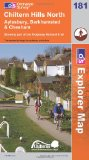 Chiltern Hills North (OS Explorer Map): Aylesbury, Berkhamsted & Chesham. Showing part of the Ridgeway National Trail