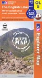 The English Lakes - North Eastern Area (OS Explorer Map Active): Penrith, Patterdale & Caldbeck [Folded Map]
