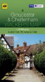 Walkers Map Gloucester and Cheltenham
