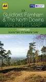 Walkers Map Guildford, Farnham and The North Downs