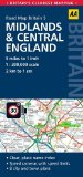 Midlands & Central England: AA Road Map Britain