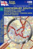 Full Colour Street Map of Shrewsbury South: Bridgnorth, Ludlow, Church Stretton Much Wenlock, Craven Arms, Bishops Castle